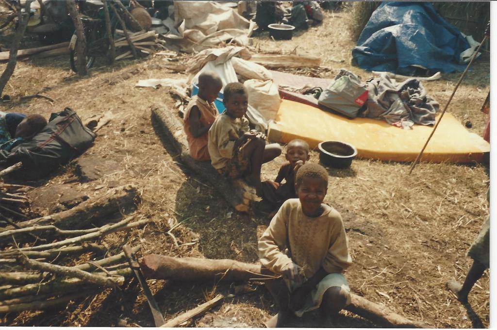 Orphans awaiting in the hot sun