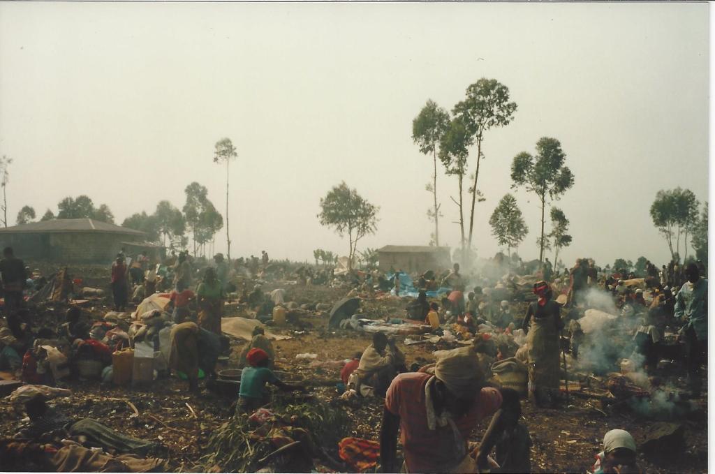 Rwandan refugee camp in Goma, Zaire