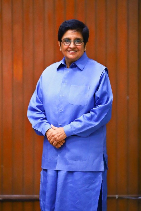 Dr. Kiran Bedi, India's first female police officer