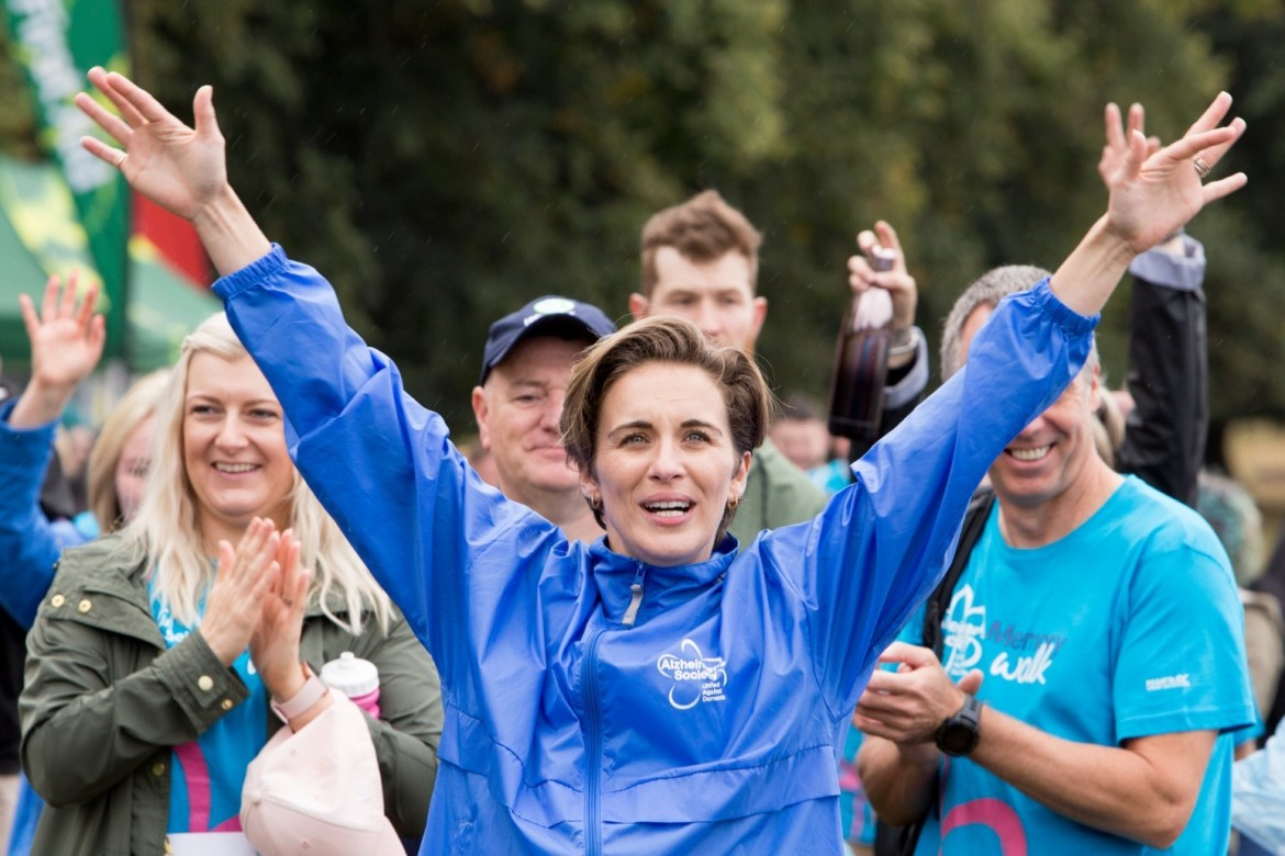 Line of Duty star Vicky McClure takes part in 'emotional' dementia walk