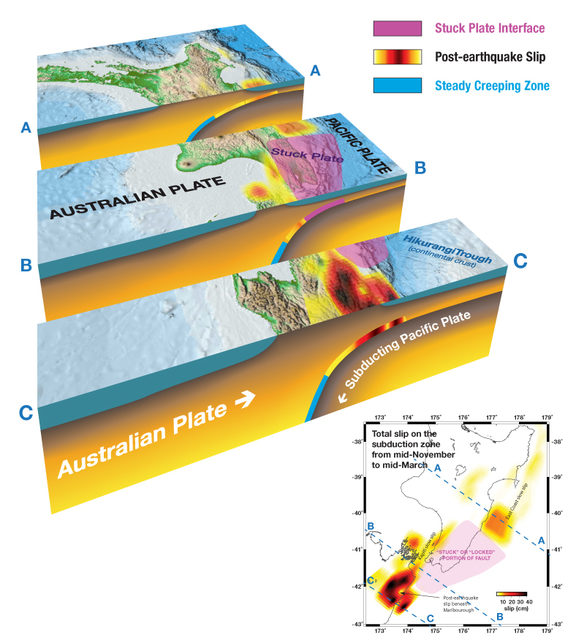 earthquake diagram with labels 4 pin micro relay wiring complexity six months of kaikōura science rnz slow slip earthquakes on the hikurangi subduction zone
