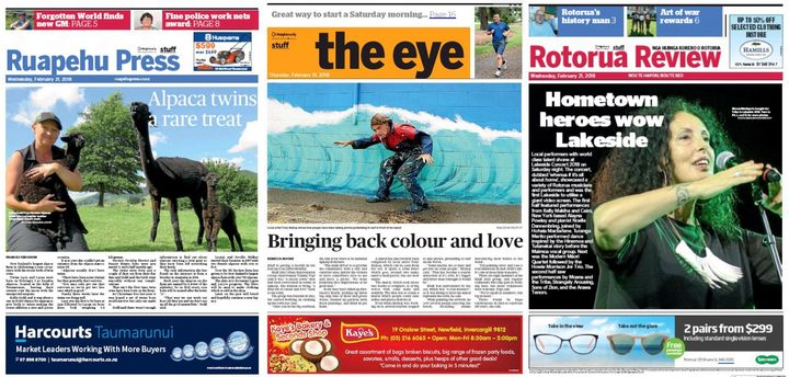 Three of the 28 local and rural publications Stuff wants to close or sell by the end of the year.