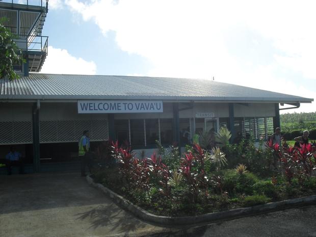 Sign at Vava'u airport in Tonga