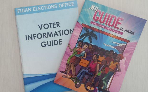 Fiji voting information pamphlets