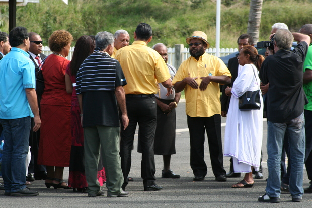 Leaders of Melanesian Spearhead Group gather for a meeting in Noumea, June 2013.
