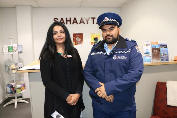Sucharita Varma and Sergeant Gurpreet Arora