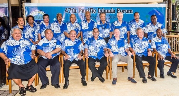 Leaders at the Pacific Islands Forum in the Federated States of Micronesia in 2016.