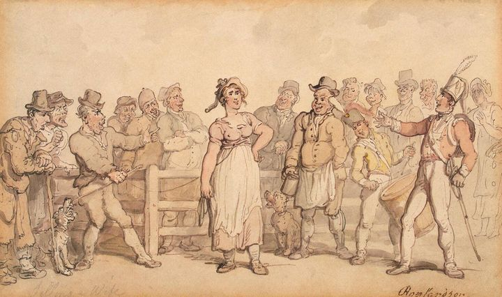 Selling a Wife (1812–14), by Thomas Rowlandson