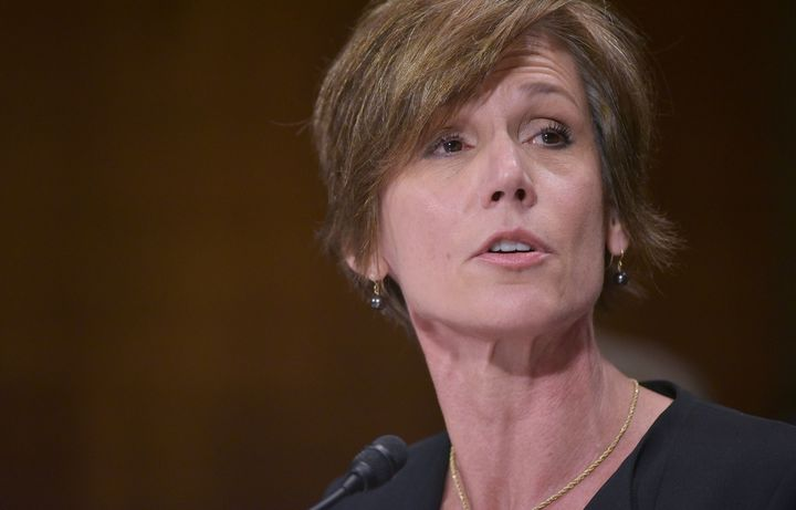 Former acting US Attorney General Sally Yates