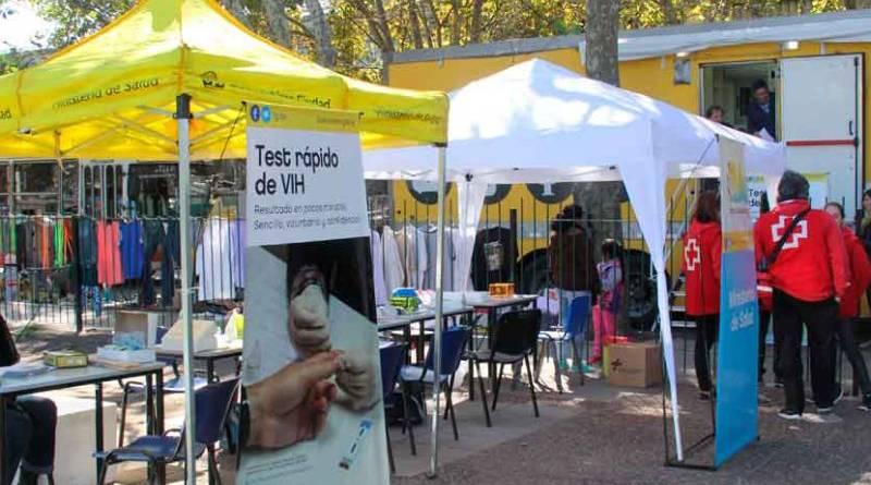 Se realiza en Parque Lezama la campaña de Test rápido de VIH