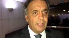 """""""Já está na hora de o PSDB sair do governo"""", diz Aécio Neves"""