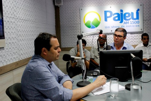 Paulo Câmara na Rádio Pajeú. Veja como foi