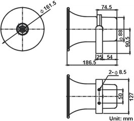 SHOW TC10AH 10W 100V LINE HORN SPEAKER IP66 ALUMINIUM U