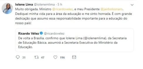 Pastora de São José assume cargo número 2 do MEC