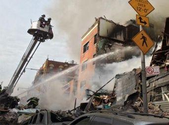 Explosión y colapso de edificio en NY deja varios heridos