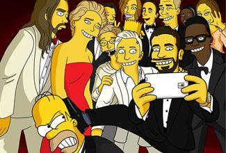 Los Simpson tienen su 'selfie' al estilo de Los Oscar