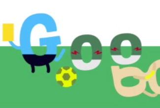 """El doodle no oficial del """"clavado"""" de Robben"""