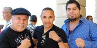 Coly, Gallo Estrada, y Xavier Rodríguez de La Cobacha Restaurant.