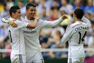 Los dos goles del Chicharito con el Real Madrid