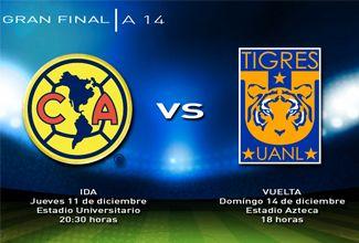 La Liga Mx dio a conocer los horarios de la final del fútbol mexicano, los dos equipos contendientes, América y Tigres, se enfrentan en los dos últimos partidos del año para lograr el titulo.