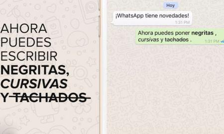 ¿Cómo escribir en WhatsApp con negritas, cursivas y tachados?