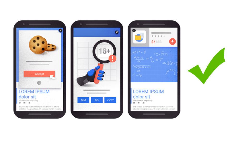 Google penalizará a páginas con publicidad intersticial