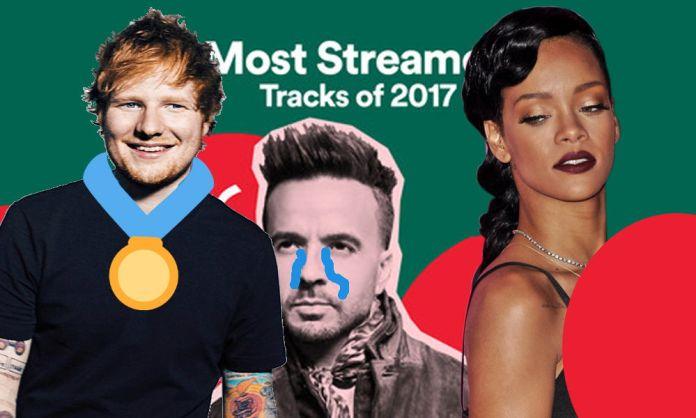 canciones más escuchadas en Spotify 2017