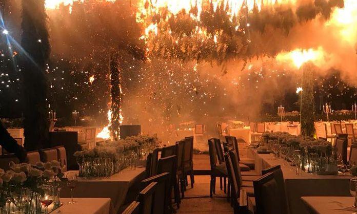 Incendio acaba con boda