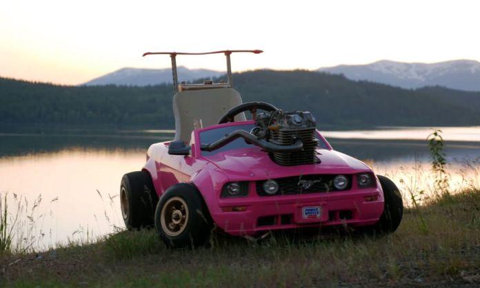 Carrito para niños con motor