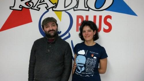 Les conteurs Manuella Yapas et Fabien Delorme - novembre 2015