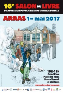 Affiche du 16ème Salon du livre d'expression populaire et de critique sociale (Arras)