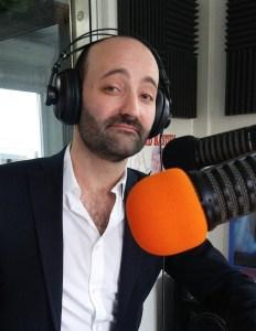 Le conteur Fabien Delorme à Radio Plus (2017)