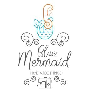 "logo de ""Blue Mermaid"" - créations couture, par Morgane Eliet"