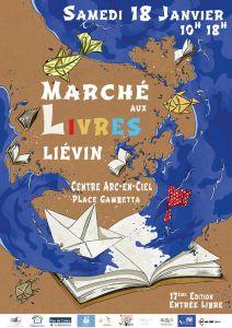 Affiche Marché aux Livres de Liévin - 18 janvier 2020