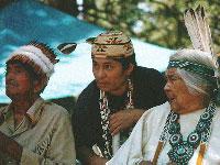 Members of the Winnemem Wintu tribe in Northern California.  Source: Portland Indymedia