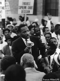 Martin Luther King, Jr. in 1960.  Source: Francis Miller/LIFE