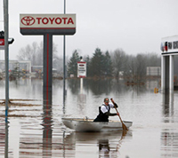 Flooding in Centralia, WA
