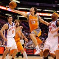 Steve Nash wearing the Los Suns jersey