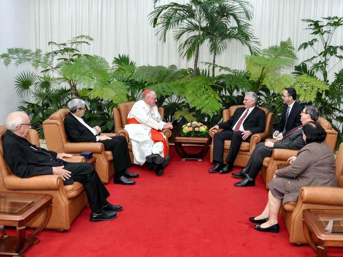 El Arzobispo de Nueva York realiza una visita a nuestro país por invitación del Presidente cubano y de la Conferencia de Obispos Católicos de Cuba. Foto: Estudios Revolución