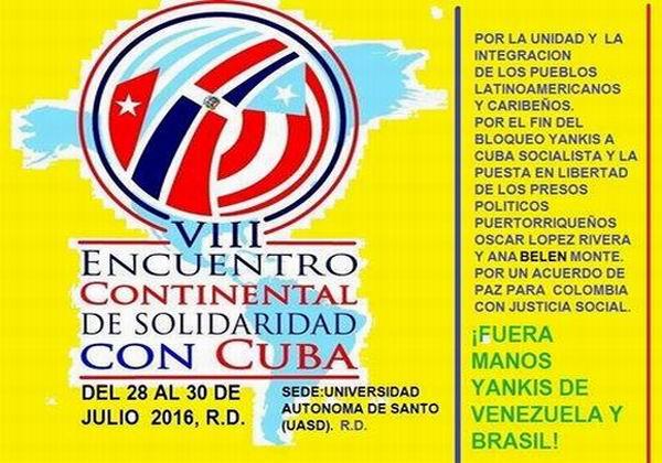 VIII Encuentro Continental de Solidaridad con Cuba