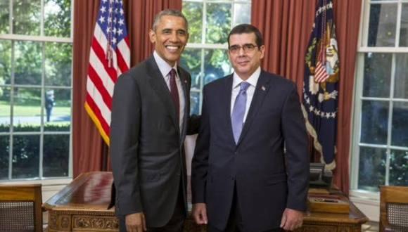 Entrega embajador cubano Cartas Credenciales a Barack Obama