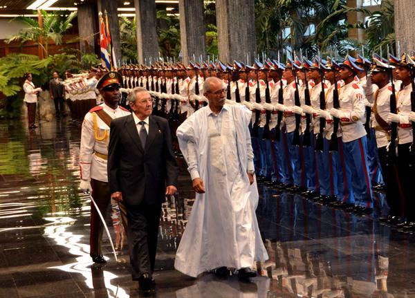 Recibió Raúl Castro al Presidente de la República Árabe Saharaui Democrática. Foto: Marcelino Vázquez