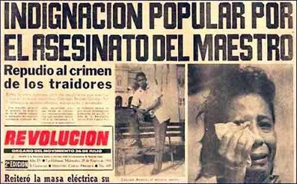 El asesinato del joven maestro acaparó titulares de la prensa revolucionaria. Foto: Escambray