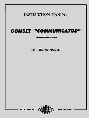 Gonset Communicator / II / IIA 2 meter manual »R²