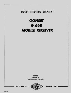 Gonset G-66B Receiver