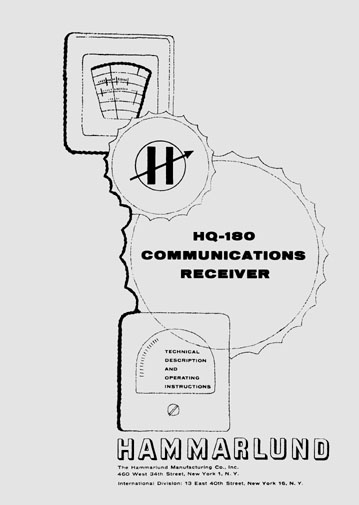 Hammarlund HQ-180 issue 3 manual w/ 30