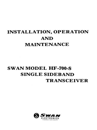 Swan HF-700-S