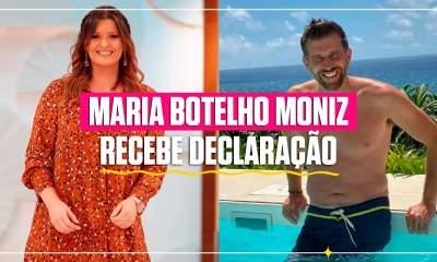 Maria Botelho Moniz recebe declaração de amor