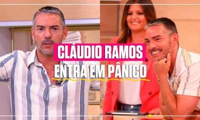 Cláudio Ramos entra em pânico com moscas