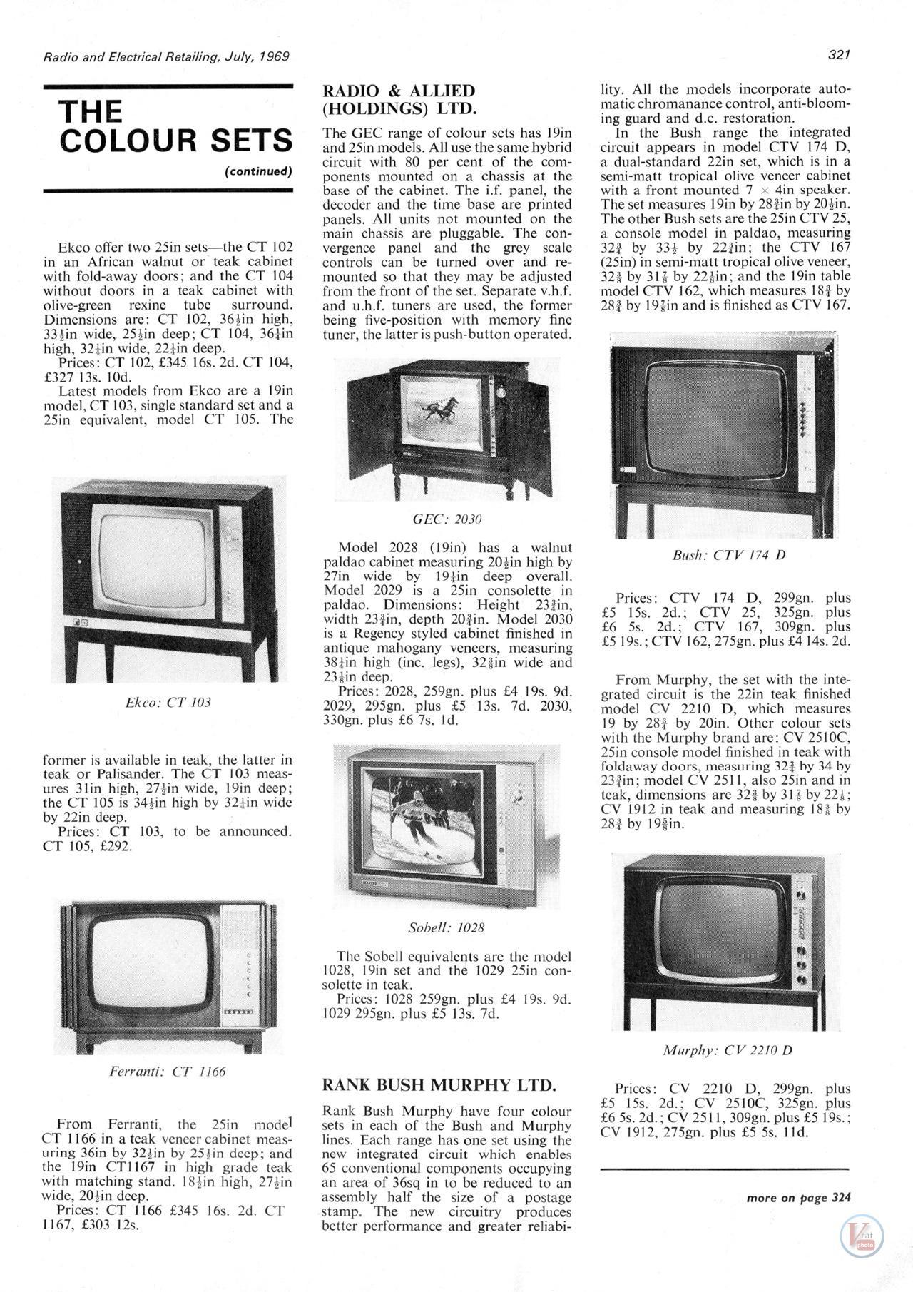 R-E-R The Colour Sets 1969